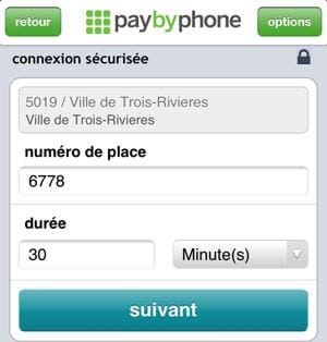 stationnement paybyphone